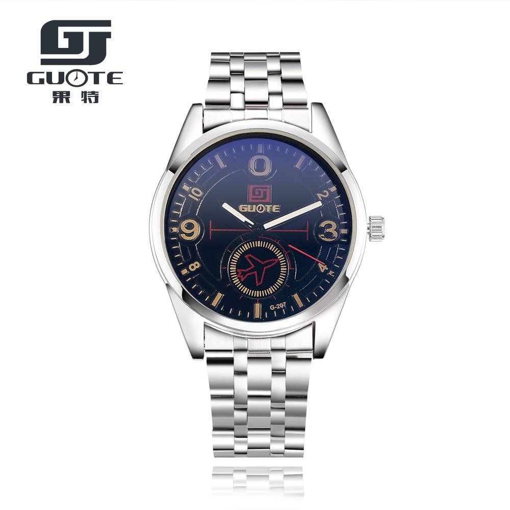 2017 Fashion Luxury Brand GUOTE Chronograph Men Sports Watches Waterproof Full Steel Casual Quartz Men's Watch Relogio
