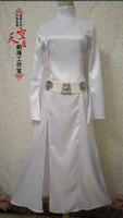 STAR WARS Alderaan Princess Leia Organa Solo Dress Belt Costume Adult Kids Cosplay Dresses