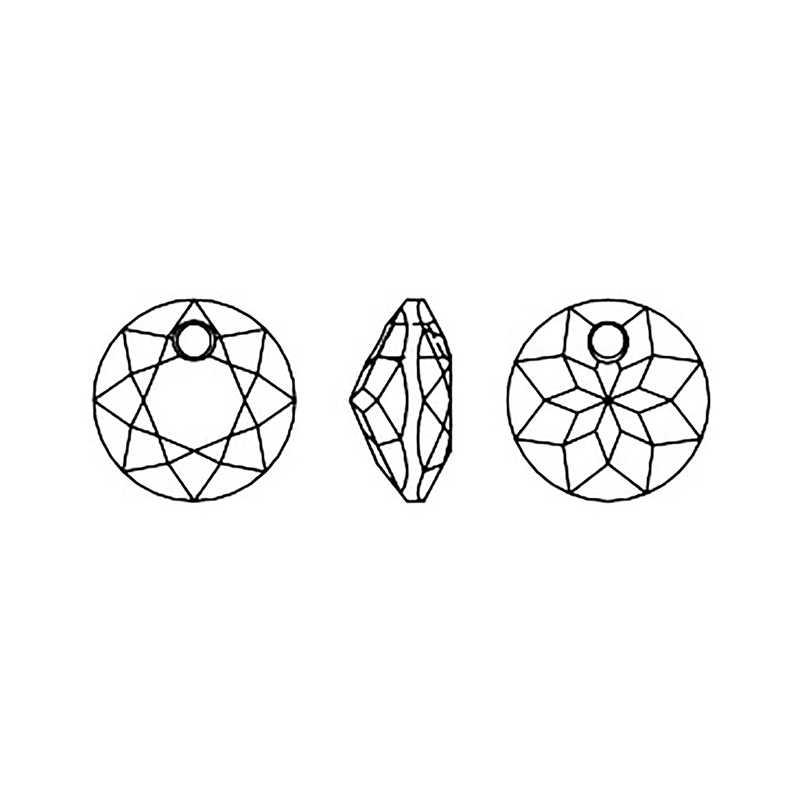 Baru (1 Buah) 100% Asli Kristal dari Swarovski 6430 Classic Cut Liontin Dibuat Di Austria Manik-manik Longgar untuk DIY Membuat Perhiasan