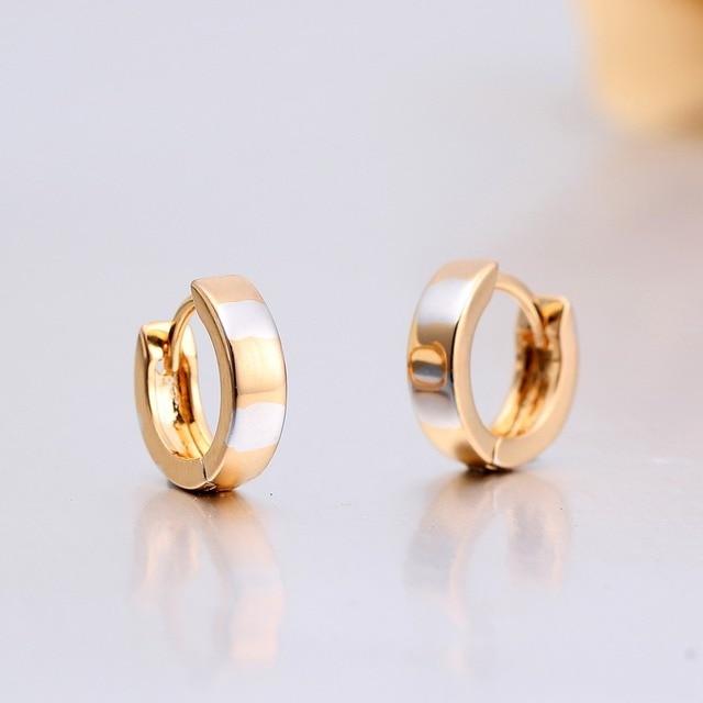 Ben noto Windshow anello di colore giallo e bianco mix oro cerchi huggies  BI81