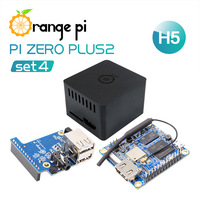 Orange Pi Zero Plus 2 H5 Set 4: Zero Plus 2 H5+Protective Black Case+Expansion Board, A development board, beyond Raspberry