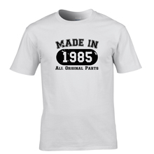Print Man T Shirt Printed Short Sleeve Mens Made In 1985 All Original Parts (Distressed Design)