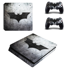New Batman PS4 Slim Skin Sticker For Sony Playstation 4 Slim Console And 2 Controller Cover Decal Skins