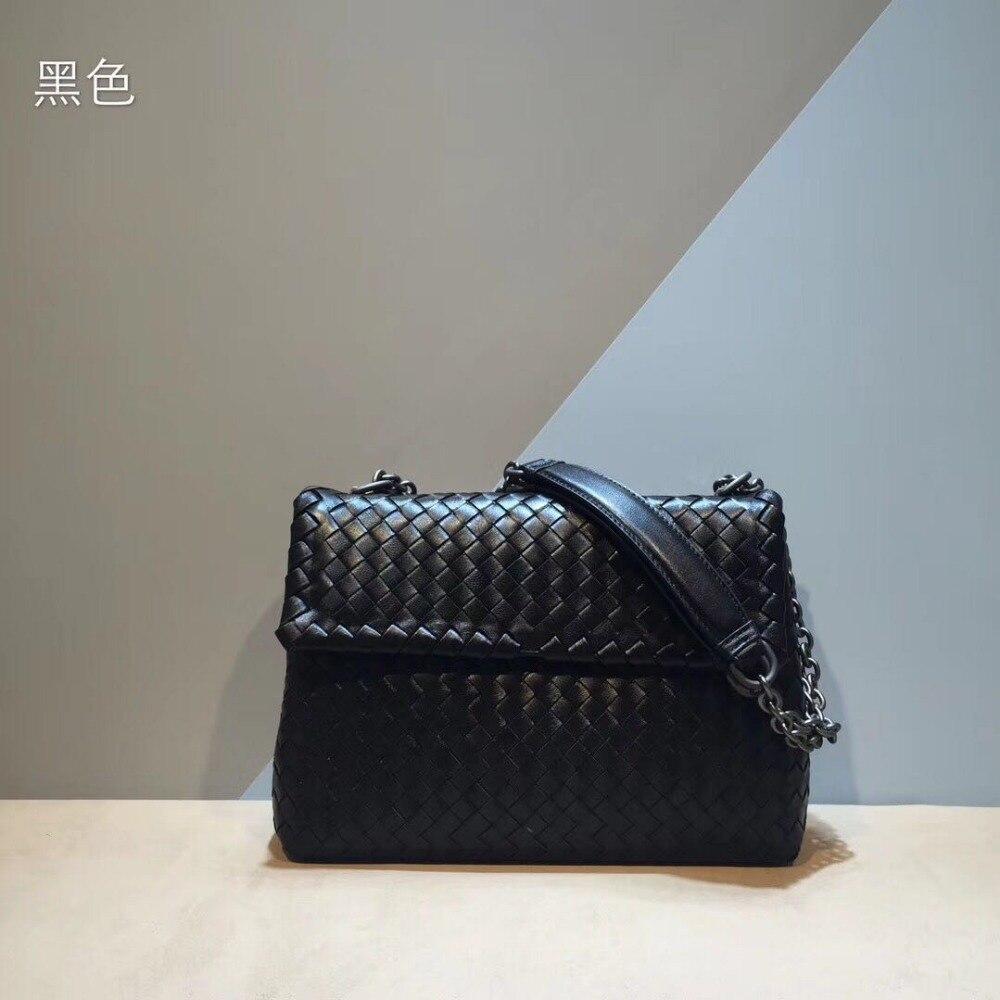 Bolsas Feminina Bolsos Mujer High-grade Woven Bag Pure Genuine Leather (sheepskin)single Shoulder Womens Bags High-capacity