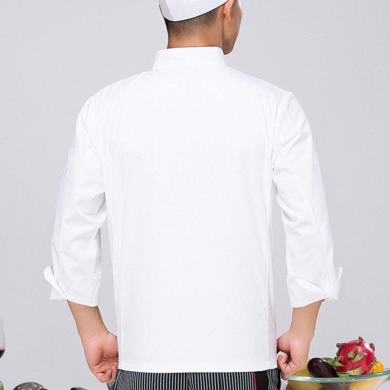8382927602d Ropa de Chef de manga larga uniforme de pastel de panadería de la tienda y el  uniforme del Chef del restaurante del Hotel más el tamaño B 5566 en  Chaquetas ...