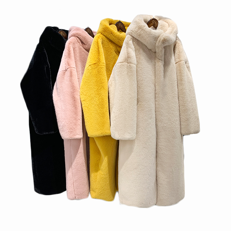 Jackets & Coats Faux Fur The Cheapest Price Winter Europe And The United States New Large Skirt Swing Suede Long Coat Thick Warm Fur Hooded Water Mink Coat Womens Clothing