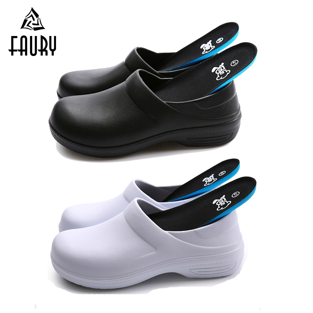 New Chef Shoes Non-slip Kitchen Shoes Food Service Restaurant Canteen Bakery Chef Cook Hotel Cleaning Work Shoes High Quality