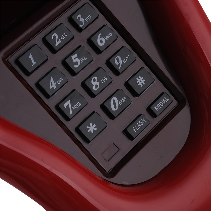 Newest telefone Red Lips Kiss telefone Telephone Corded phones for the home  Land Line 1 Home Desk Telephone 3 Color 1PCS - us406 aabe0aafd9cf2