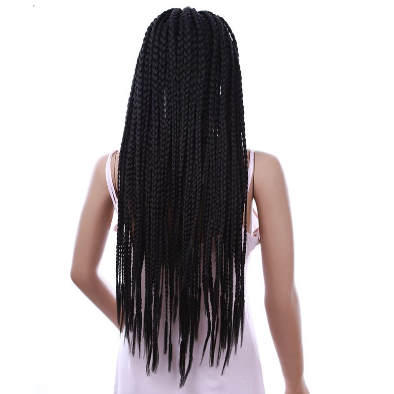 Luxury For Braiding 22 Natural Black Color 30 Purple Blonde Ombre 3X Synthetic Lace Front Braided