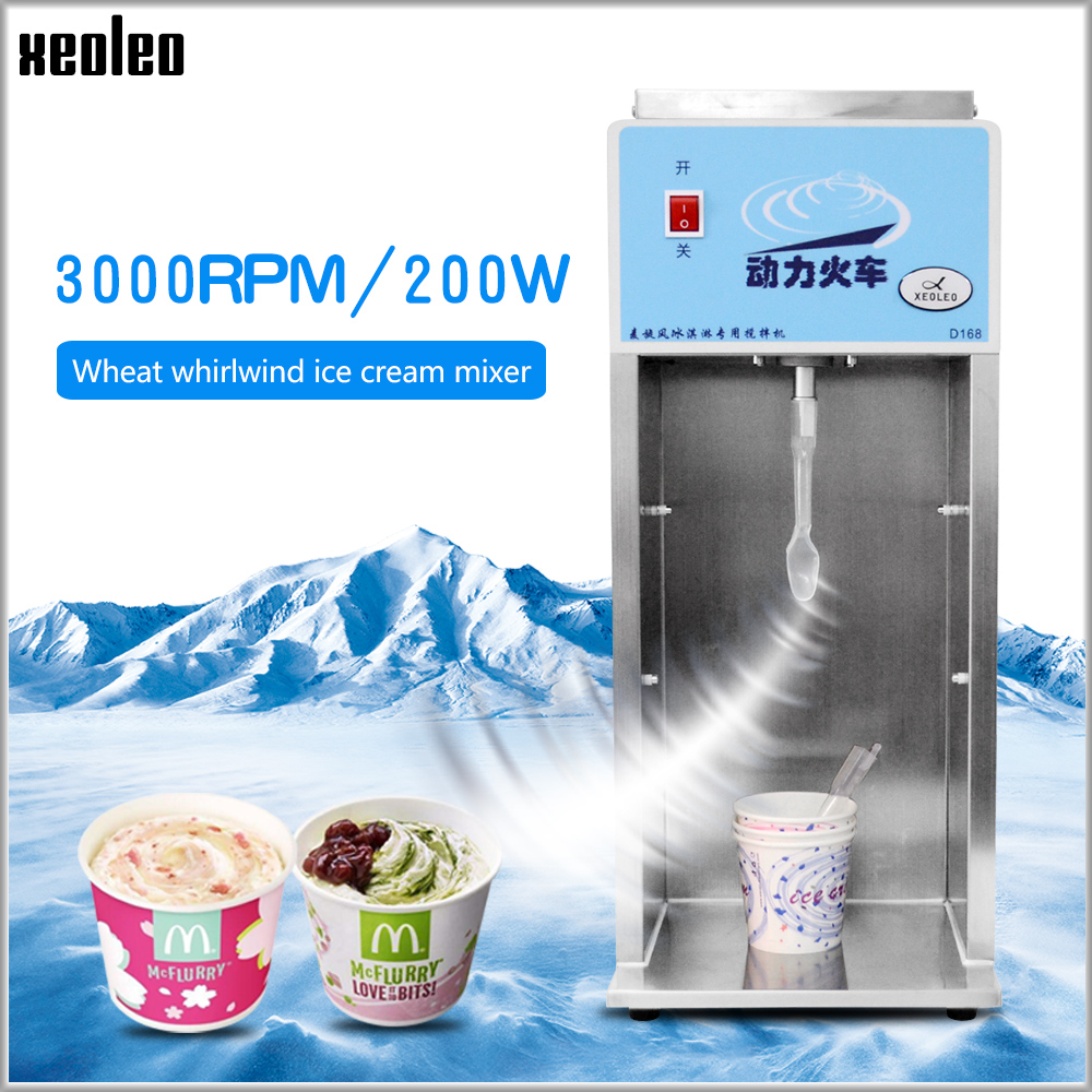 XEOLEO Enxurrada de sorvete sorvete liquidificador misturador MC MC Flurry mixer 200 W 3000 rpm Milkshake de Frozen iogurte Congelado sorvete liquidificador