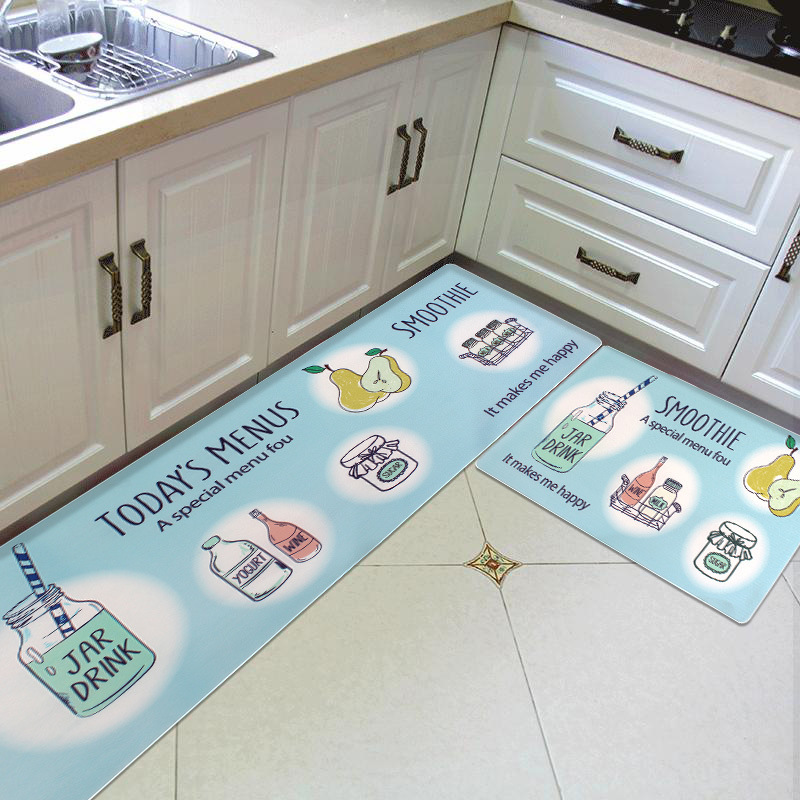 Bouteille de bande dessinée PVC tapis de cuisine accueil entrée/couloir porte tapis anti-dérapant salle de bain tapis imperméable cuisine tapis enfants chambre tapis