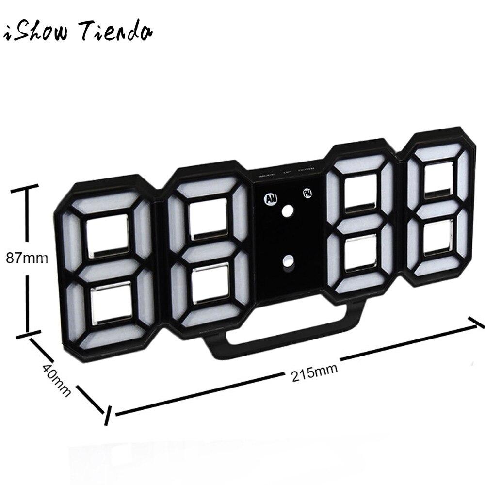 Современной цифровой светодиодный стол ночь настенные часы будильник часы 24 или 12 час Дисплей Digitale клок elektronische wekker