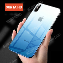 Suntaiho Colorful Phone Case for iPhone 6 6s 8 Plus X Xr Xs Max Ultra Thin Soft TPU Back Cases for iPhone 7 plus Cover Fundas