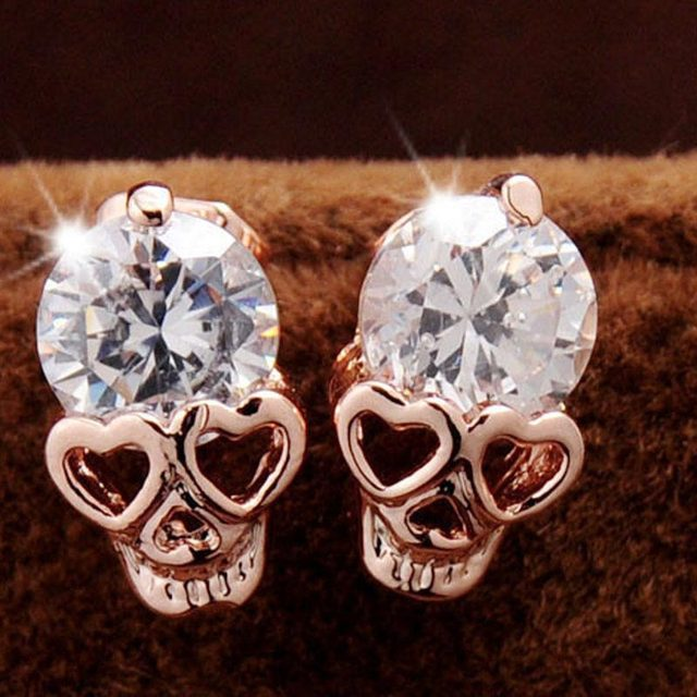 Ear Stud New Arrival Hot Foreign Trade In Rose Gold Earrings