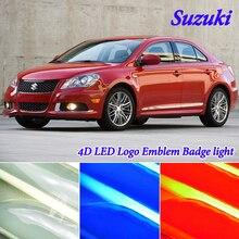 Car Styling 4D Luce Fredda LED Dell'emblema del Distintivo Logo Luce per Suzuki swift samurai jimny grand vitara sx4 Alto LED emblema Luce di Marchio