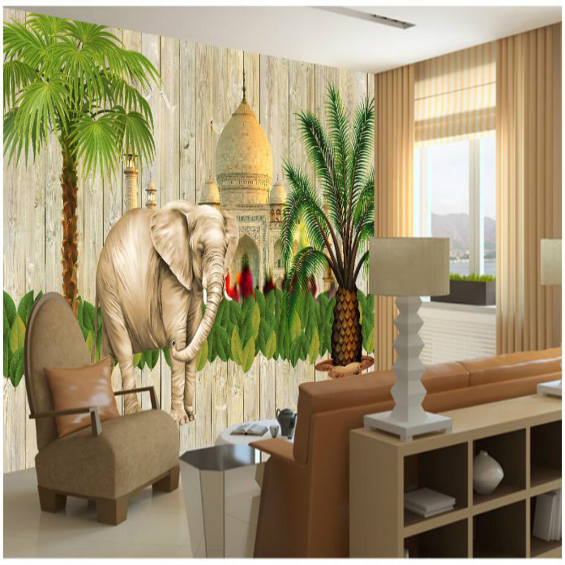 Custom 3d Wallpaper For Wall Wallpapers Indian Style Southeast Asia