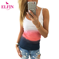 2016 Fashion Summer Women Tank Top Gradient Color Sleeveless Vest Tops Slim Fit Casual Women T
