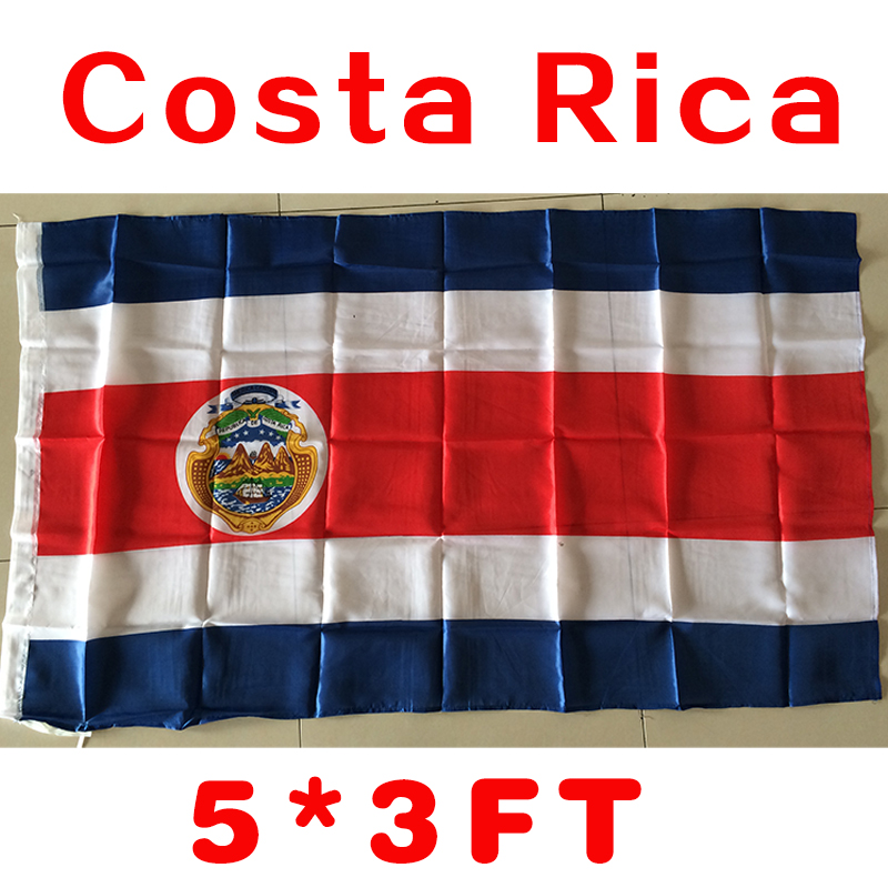 2017 The Costa Rica  Flag   Polyester Flag 5*3 FT 150*90 CM High Quality Hanging and Flying