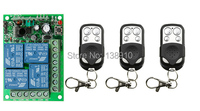 NEW DC12V 4CH 10A Radio Controller RF Wireless Push Remote Control Switch 315 MHZ 433 MHZ teleswitch 3 Transmitter +1 Receiver
