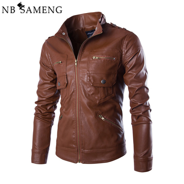 Chaqueta Jaqueta Couro Masculino Bomber Leather Jackets Men Coat Motorcycle Leather Jacket For Men Black/Drak Coffee/Light Brown