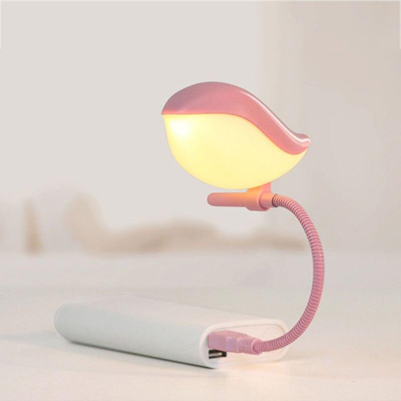 Nieuwe Mode Flexibele Mooie Vogel Micro Mini USB LED Nachtlampje ...