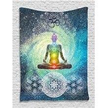 Poliéster Indio Mandala Tapiz Tapiz 200X130 cm Bohemia Throw Blanket Colcha Dormitorio Estera de Yoga En Casa Decoración de La Habitación