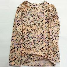 лучшая цена Swimwear Top Separate Bathing Bench Swimming Suits Swimsuits Bathe Long Sleeves Shot Sleeves Leopard Print