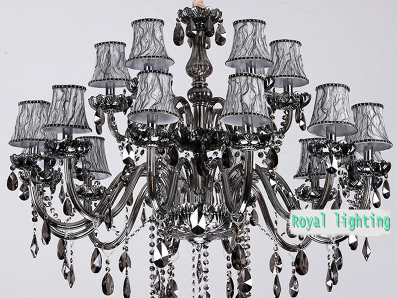 Kronleuchter Led Schwarz ~ Foyer retro große rauch kronleuchter kristall beleuchtung parlor