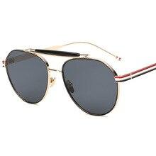 2017 venta caliente de La Manera diseñador de la marca classic gafas de sol de Aviador para los hombres de Metal marco de La Vendimia de las mujeres de Conducción gafas de sol hombre