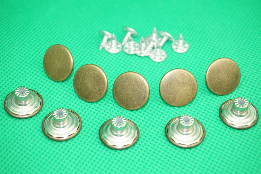 lot 17mm Mens Bachelor Metal Buttons For jeans Suspenders Replacement Instant Ochoos 5set