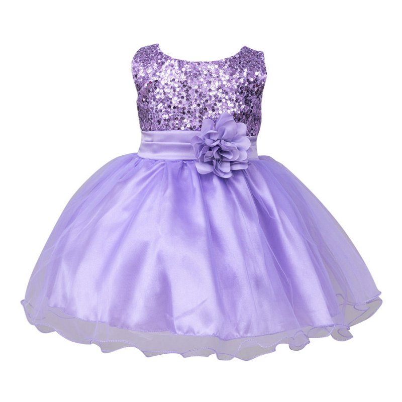 2017 Spring Summer Baby Kids Girls Bling Solid Color Dresses Cute Butterfly-knot Tutu Dress 0-2Y