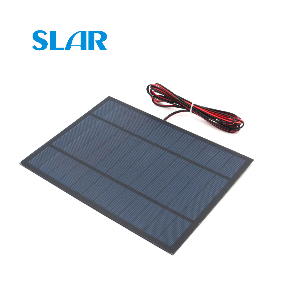 Solar Panel Polycrystalline Silicon 6V 6W with 200cm