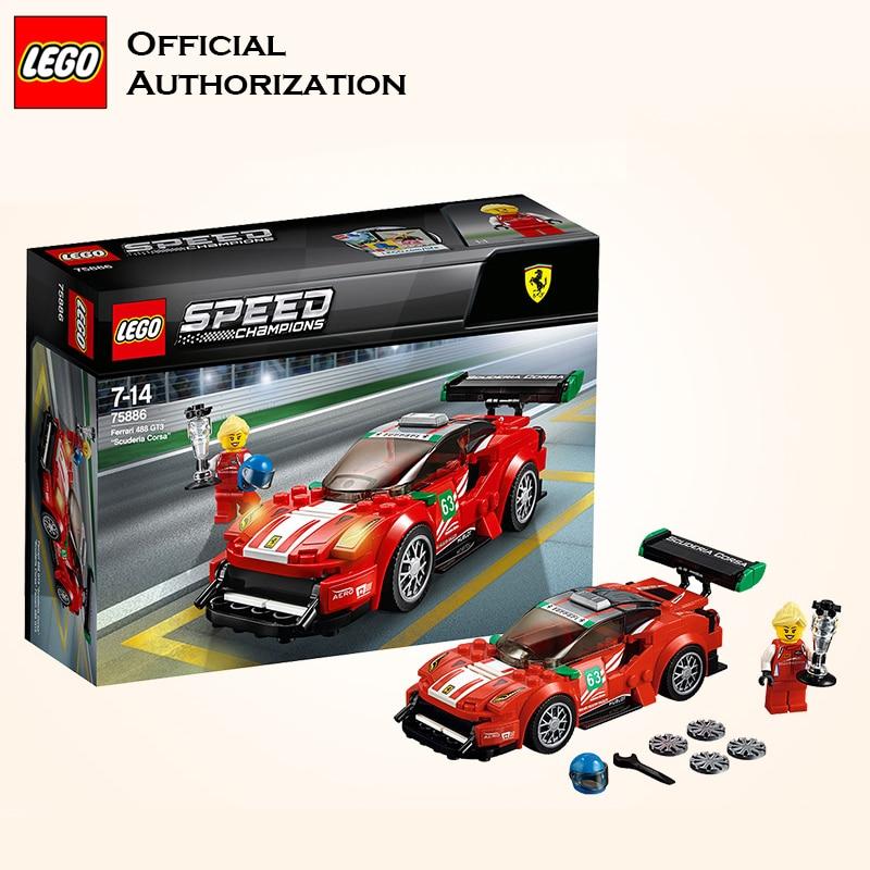 LEGO Building Blocks Super Cars Series Farraril 488 Racing ...