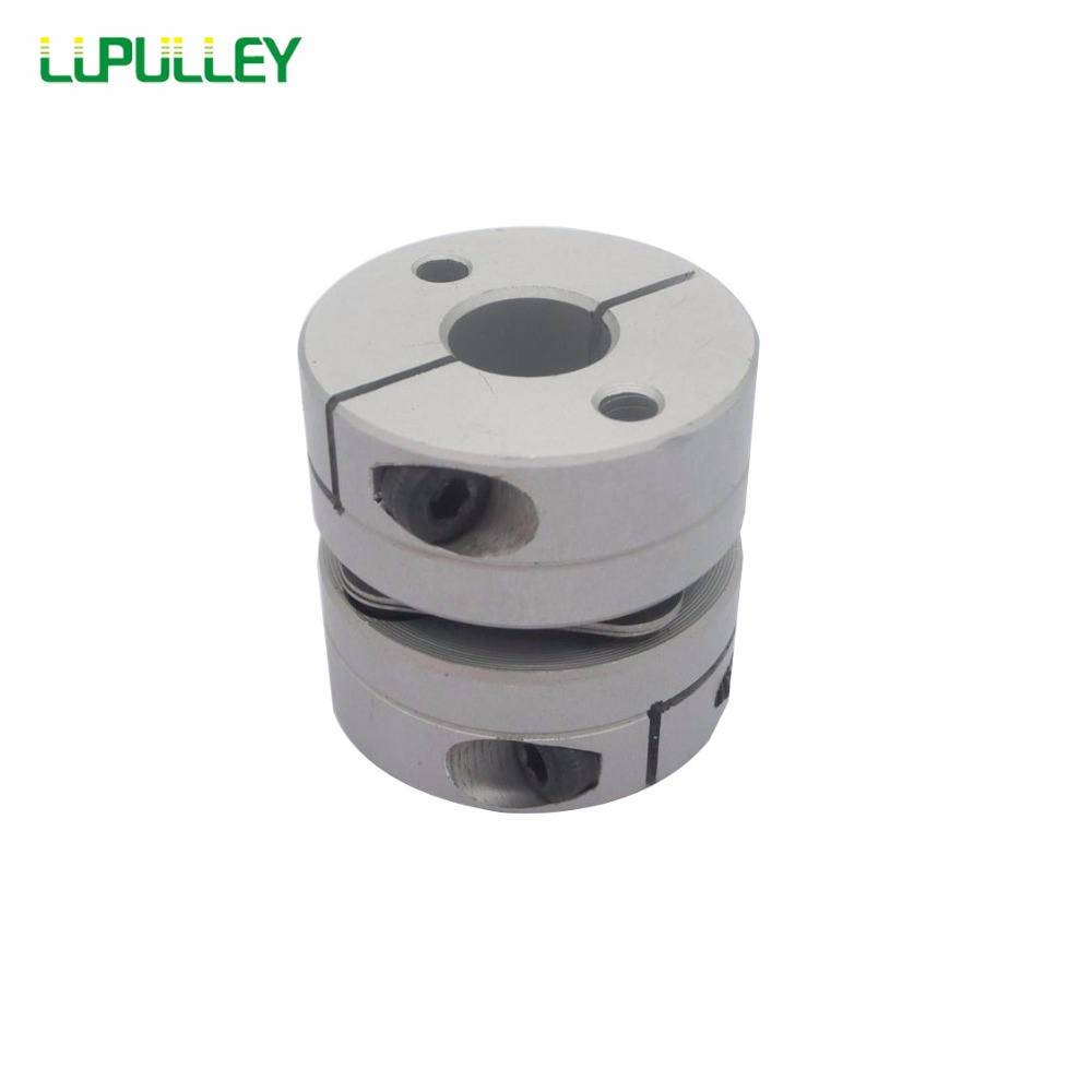 LUPULLEY 1PC Dia. 68mm Flexible Single Diaphragm Coupling Bore 19/20/22/24/30/35mm Aluminum Alloys Coupling Shaft for CNC new flexible aluminum alloys single diaphragm coupling servo and stepper motor shaft couplings d 68 l 55 d1and d2 are14 to 35mm