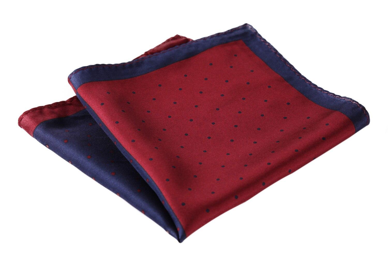 HN14R Handkerchief 100% Natural Silk Satin Mens Hanky Wedding Pocket Square
