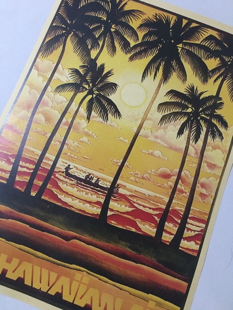Pop Art Fly Hawaii Air Travel Poster Vintage Retro Decorative DIY Wall Canvas Stickers Home Posters Art Bar Art Decoration Kids -in Painting & ...