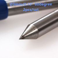 Talentool Free Shipping 2pcs Lot Diamond Drag Engraver Bit With 60 Degree For Engraving On Metal