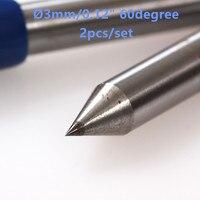 Talentool Free Shipping 2pcs Lot Diamond Drag Engraver Bit With 60 Degree For Engraving On Metal