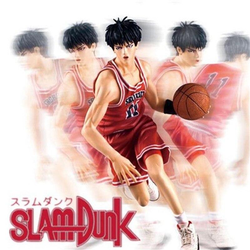 ФОТО New 2016 Classic Toys Slam Dunk Rukawa Kaede Small Forward Anime Action Figure 20cm Puppets Basketball Toys Japan Cartoon Toys