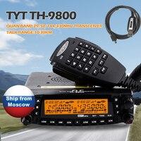 TYT TH-9800 Pro 50 W 809CH Quad Band Dual Дисплей повторителя скремблер СВЧ/УВЧ-трансивер автомобиль грузовик Любительское радио с программирования