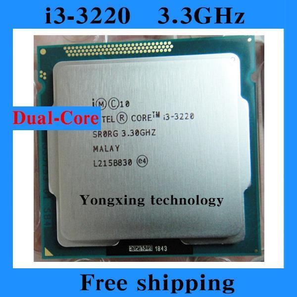 Core i3 3220 3.3GHz 3M SR0RG Dual Core Four threads desktop processors Computer CPU Socket LGA 1155 pin