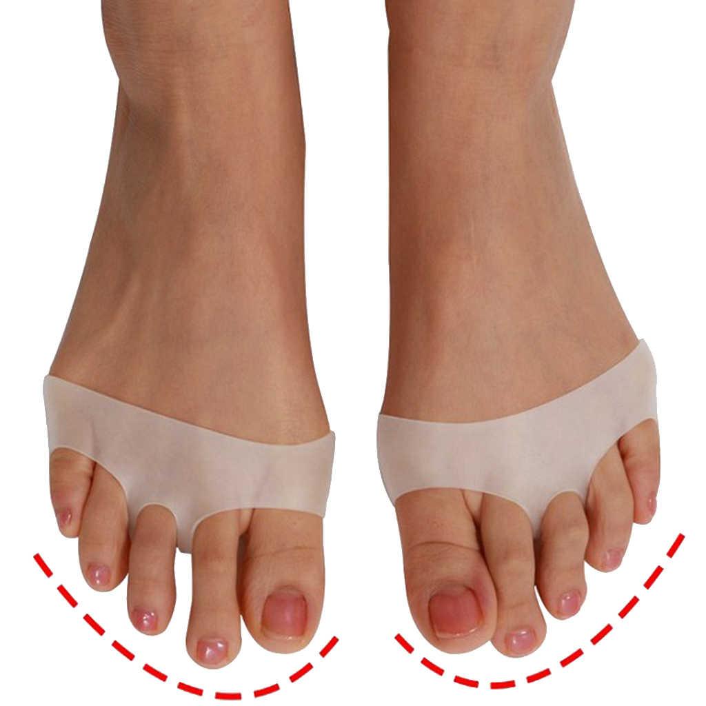 1 para żel przednie stopy poduszki pod śródstopie odciski Blister klocki oddychające białe dla kobiet noszących wysokie obcasy tłuszczu Pad atrofia