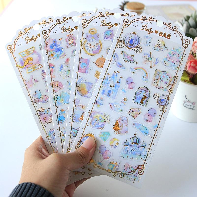 Star Dream Princess Gilding Bullet Journal Decorative Stationery Stickers Scrapbooking DIY Diary Album Stick Lable