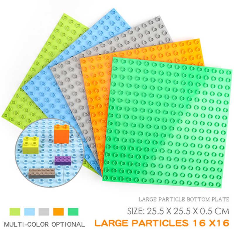 Große Größe Duple Bausteine Basis Platten Spielzeug Kompatibel Duploe Figur BasePlates Blöcke Basis Spielzeug Kinder Ziegel Spielzeug
