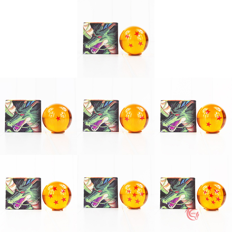 7.6cm NEW Dragon Ball z Gold Crystal Ball Action Figures Toys Cool Car Home Decor Toys for Children Japan Cartoon Toys 1-7 stars 4pcs new for ball uff bes m18mg noc80b s04g