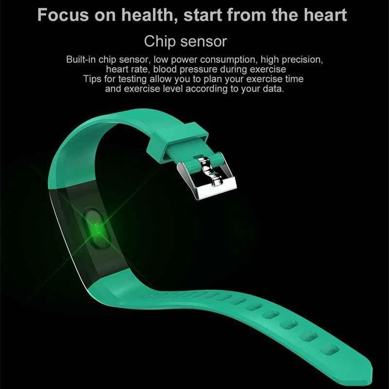 Reloj inteligente Bluetooth Frecuencia Cardíaca presión arterial Fitness Tracker pulsera inteligente IP67 impermeable hombres mujeres reloj para Ios Android