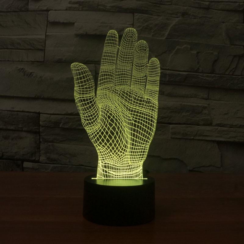 yellow hand night light