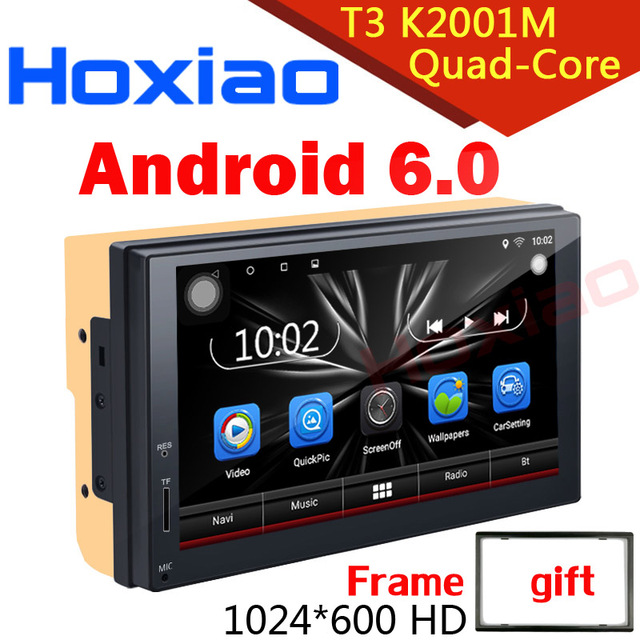 Car dvd player 2 din android radio bluetooth GPS Navigation wifi Stereo video 7 inch 1024*600 Universal in Car Multimedia Player