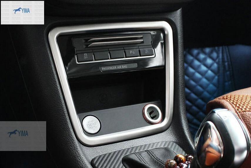 Interior para VW volkswagen sharan 2012-2016 Control central de acero - Accesorios de interior de coche