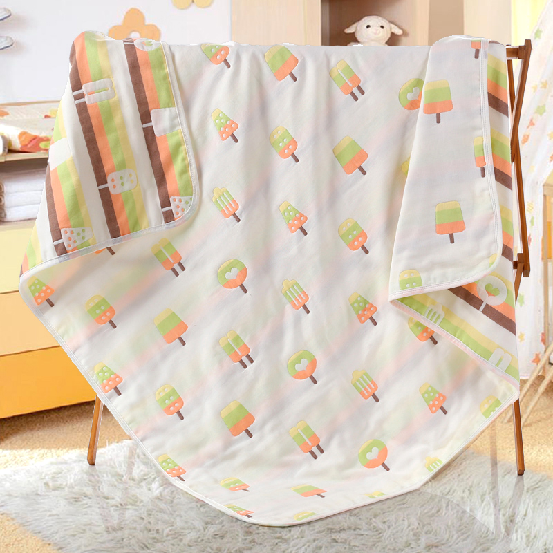 Baby Bath Towel Quilt 6 Layer Gauze Newborns Swaddle Wrap Baby Blankets Kids Bedding Blanket Soft Sleeping Wrap Spring Summer